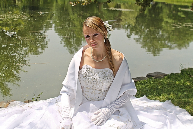 Bride by Pond