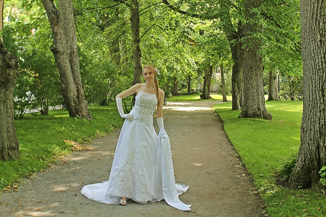 Bride with trees