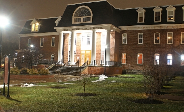 Coady Building, at Night