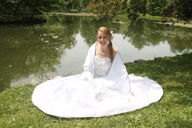 Bride at Pond